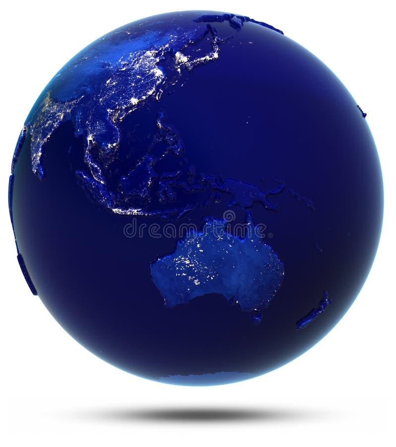 L'Australia, Sud-est asiatico ed Oceania royalty illustrazione gratis