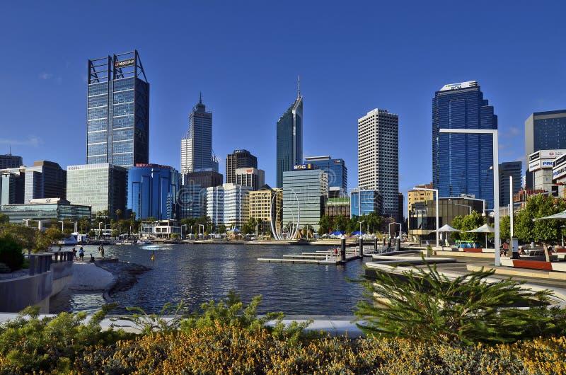 L'Australia, WA, Perth CBD fotografie stock libere da diritti