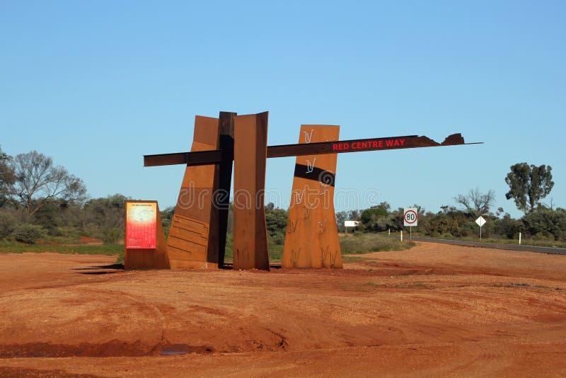 l'Australie. Cente rouge photo libre de droits