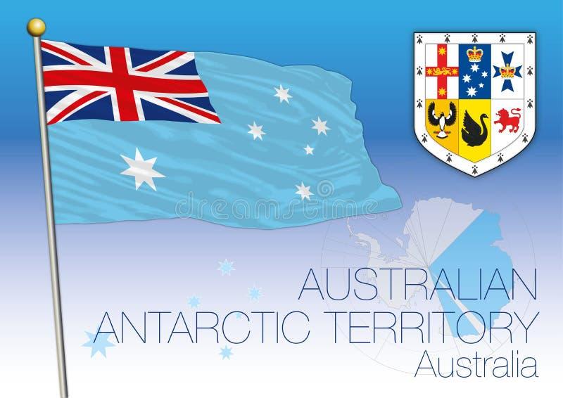 L'Australie, le drapeau antarctique de territoire et la carte illustration de vecteur