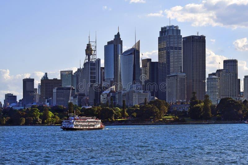 L'Australie, le NSW, le Sydney, le vapeur de palette et l'horizon image libre de droits