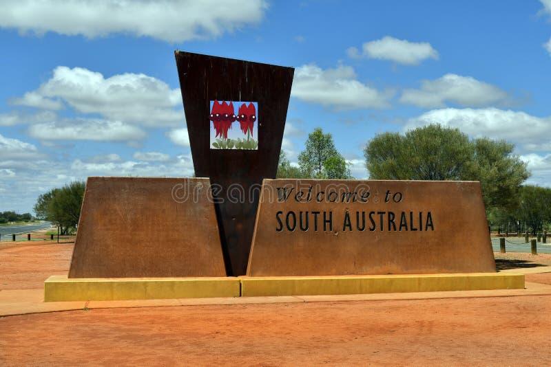 L'Australie, ligne de frontière d'Australie du sud photographie stock