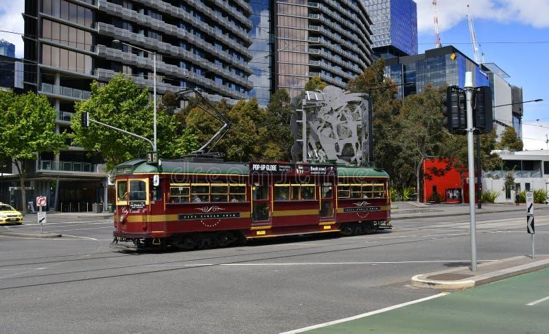 L'Australie, Victoria, Melbourne, tramway images libres de droits