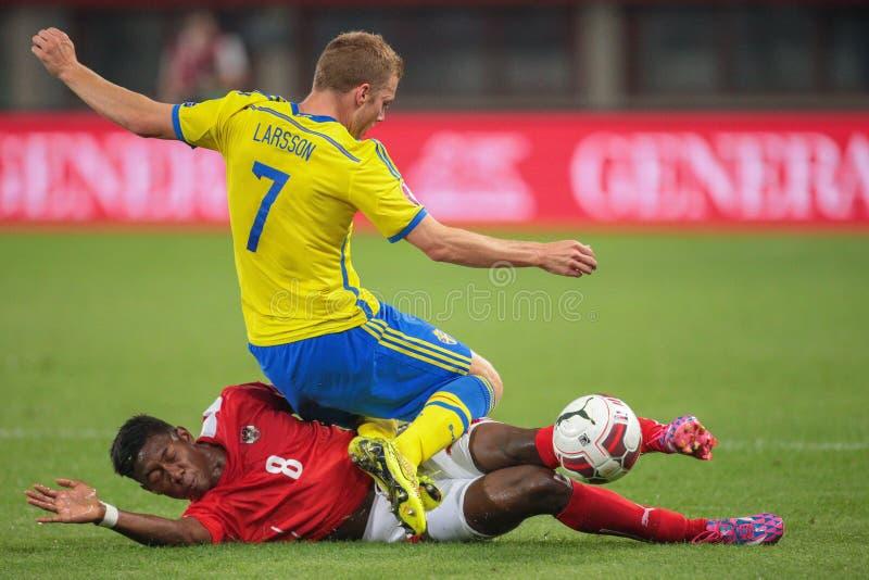 L'Austria contro il Belgio sweden fotografia stock