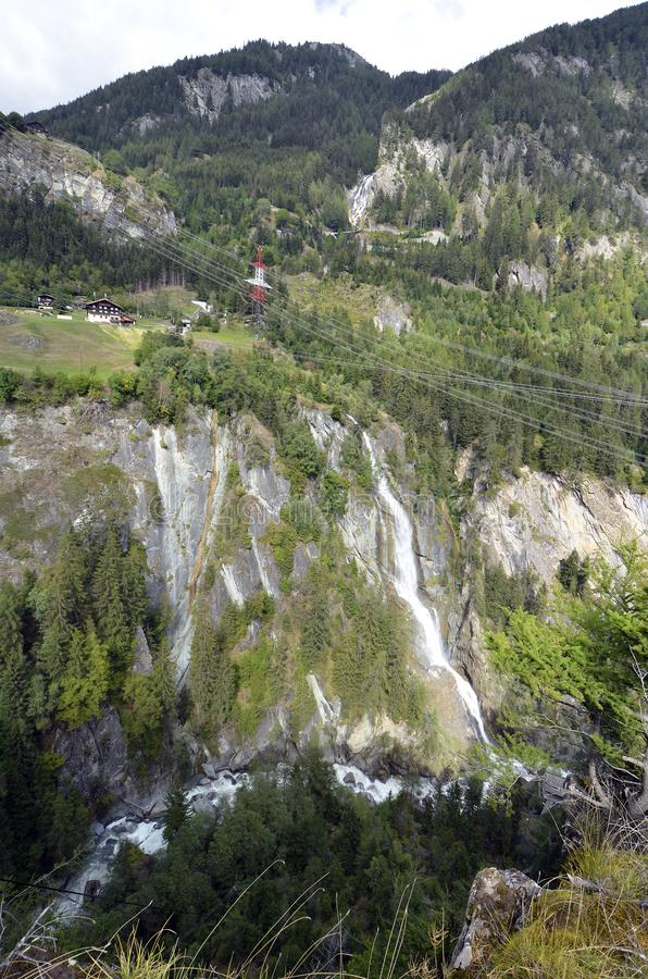 L'Austria, Est-Tirolo, cascata immagini stock libere da diritti