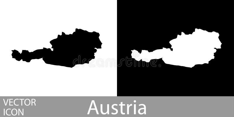 L'Austria ha dettagliato la mappa illustrazione di stock