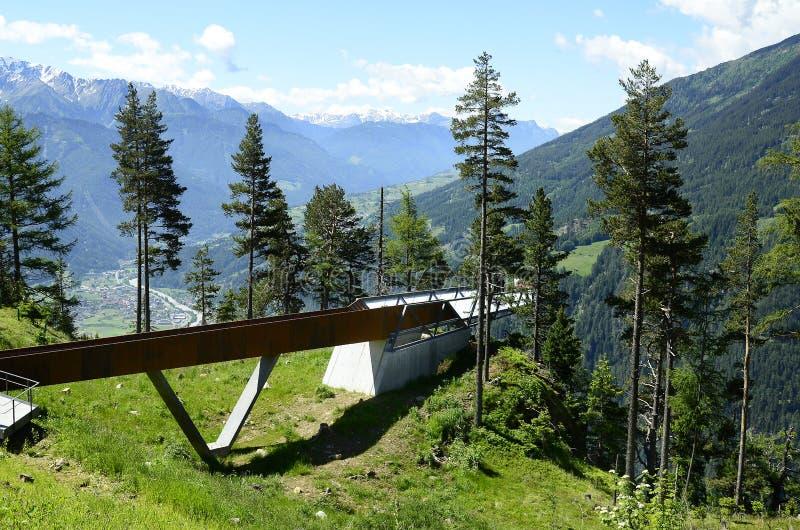 L'Austria, Tirolo, punto di osservazione fotografia stock