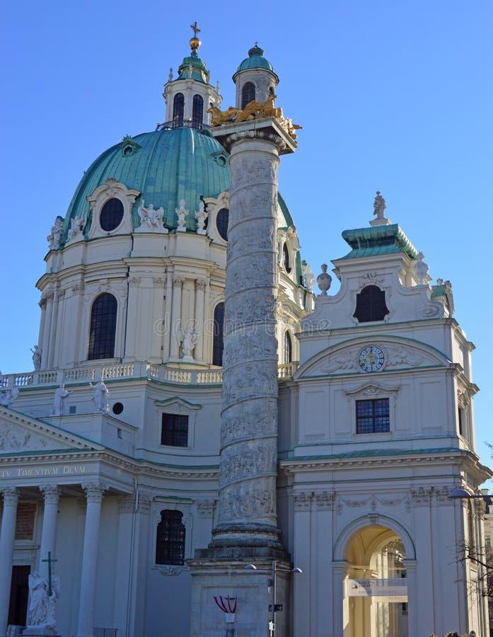L'Austria Vienna, bellezza di barocco di Karlskirche immagini stock