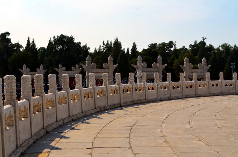 L'autel circulaire de Yuanqiu chez le temple du Ciel, Pékin photo libre de droits