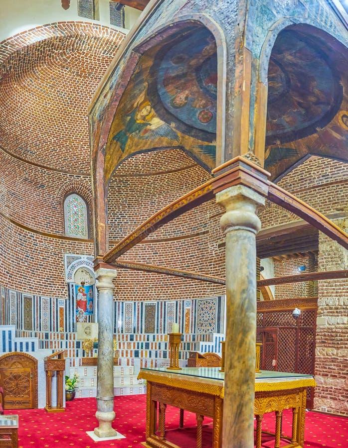 L'autel dans St Barbara Church, le Caire, Egypte photo stock