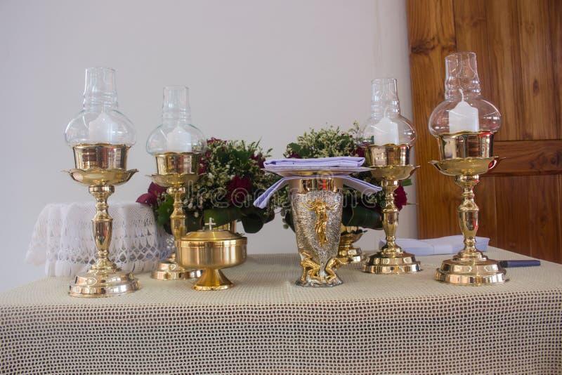 L'autel est allumé par la lumière du soleil photo libre de droits