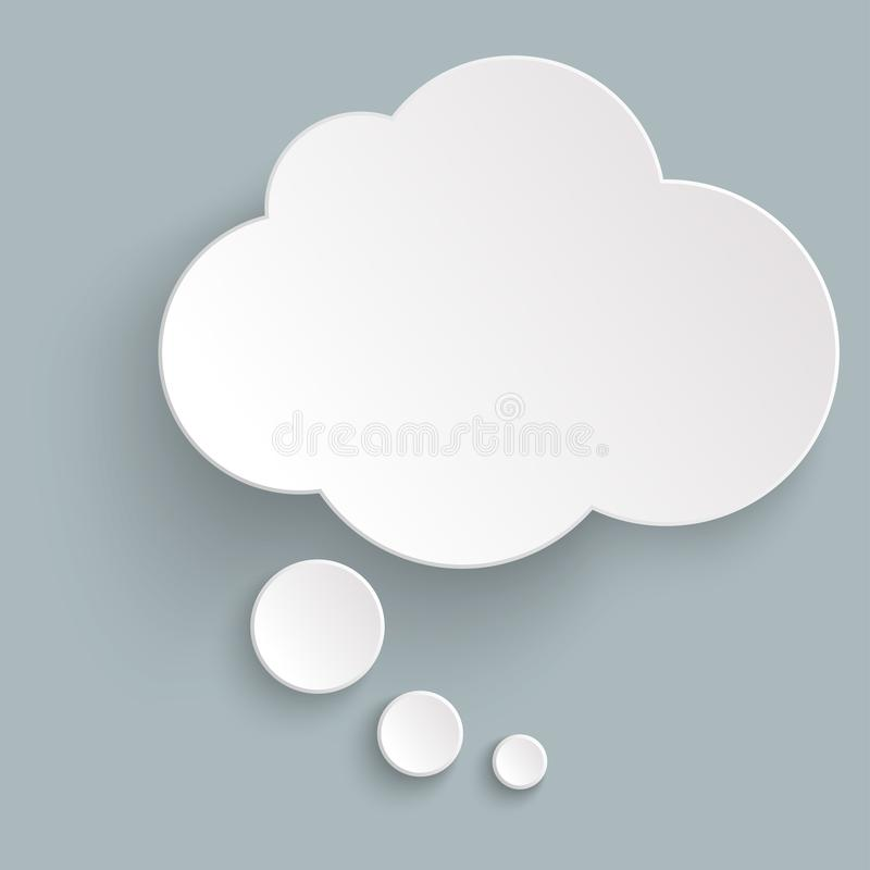 l'autoadesivo ha pensato la bolla con ombra illustrazione di stock