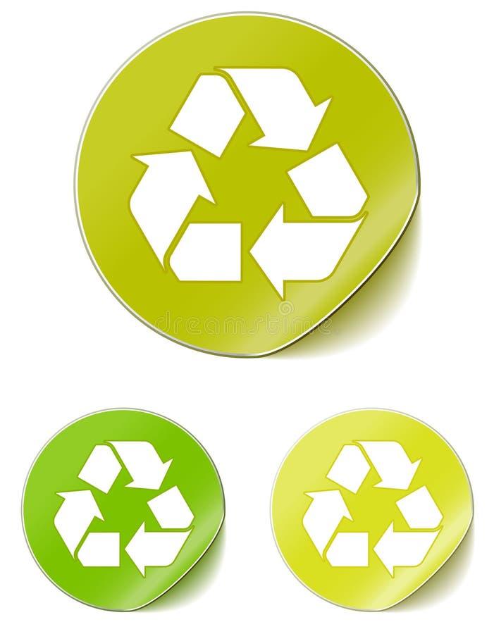 L'autoadesivo ricicla royalty illustrazione gratis