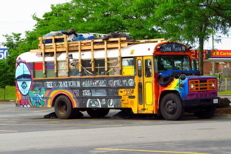 l'autobus de Mafia de café image libre de droits