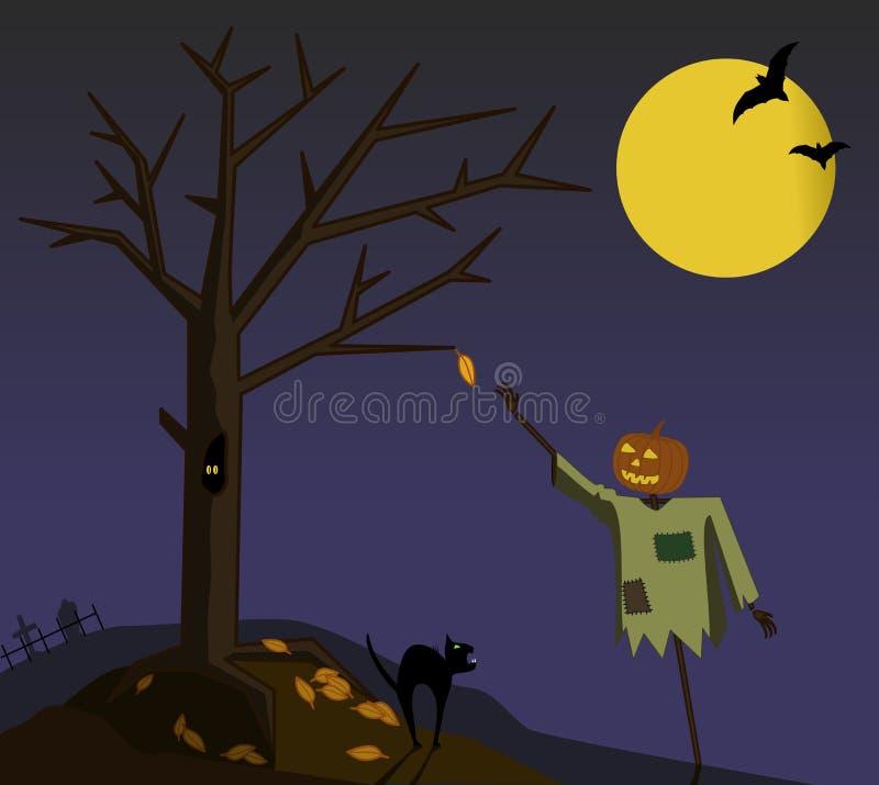L'automne dernier lame illustration stock
