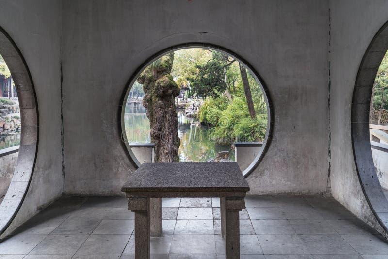 l'automne en parc de jardin de Suzhou en Chine photographie stock