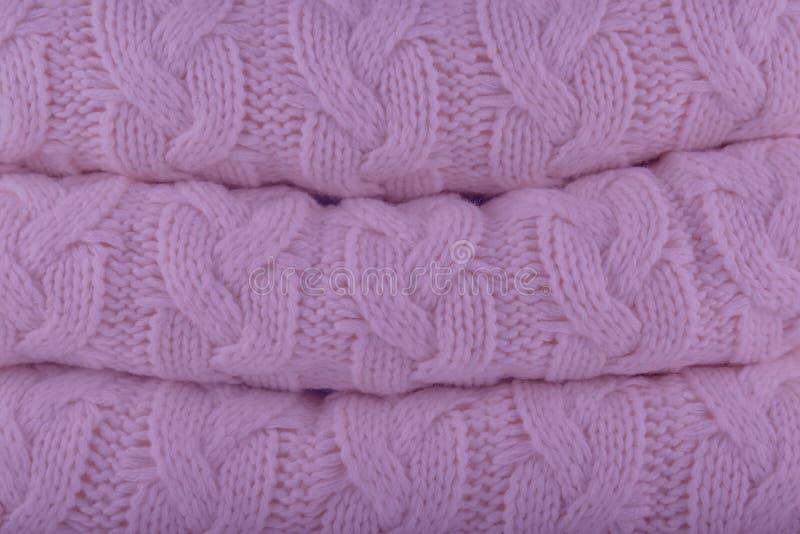 L'automne-hiver 2018-2019 de couleurs de mode de Pantone de pétale de crocus tricotent photographie stock libre de droits