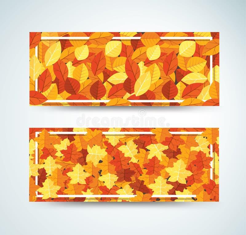 L'automne pousse des feuilles l'illustration EPS10 de vecteur de fond de calibre illustration de vecteur
