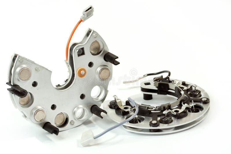 l'automobile détaille la pièce de rechange de générateur image libre de droits