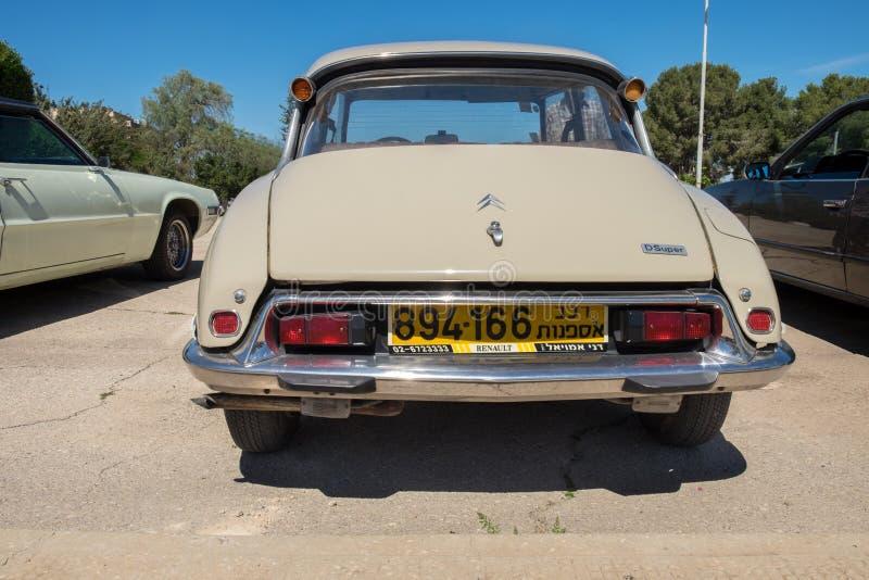 L'automobile d'annata di Citroen il DS Dsuper ha presentato sulla manifestazione di automobile del oldtimer, Israele fotografie stock libere da diritti