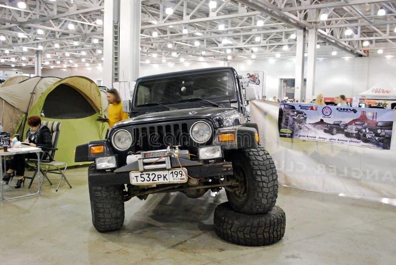 L'automobile di Jeep Wrangler II nell'Expo 2012 del croco immagine stock