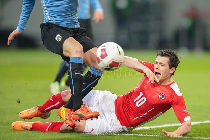 l'Autriche contre la Belgique l'uruguay images stock
