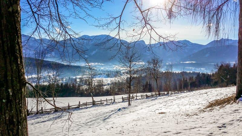 L'Autriche - le Kathreinkogel pendant l'hiver photo libre de droits