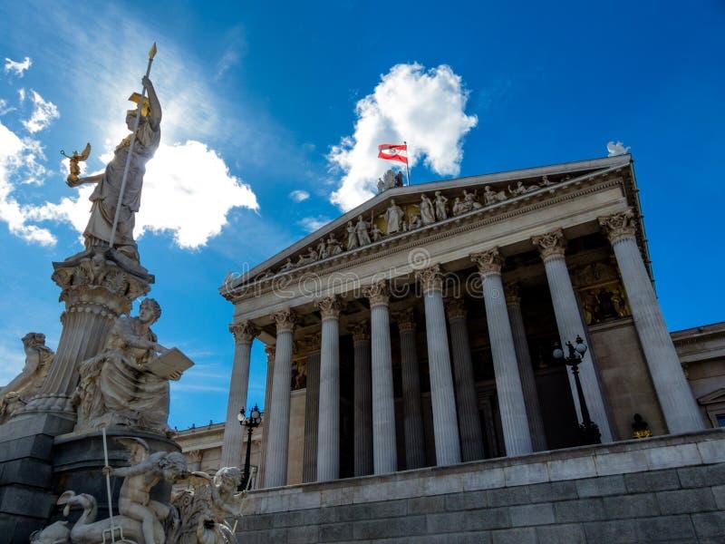 L'Autriche, Vienne, le parlement image stock
