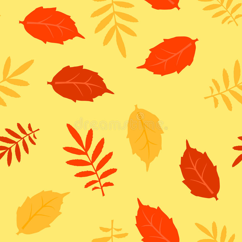 L'autunno caduto lascia a vettore il modello senza cuciture royalty illustrazione gratis