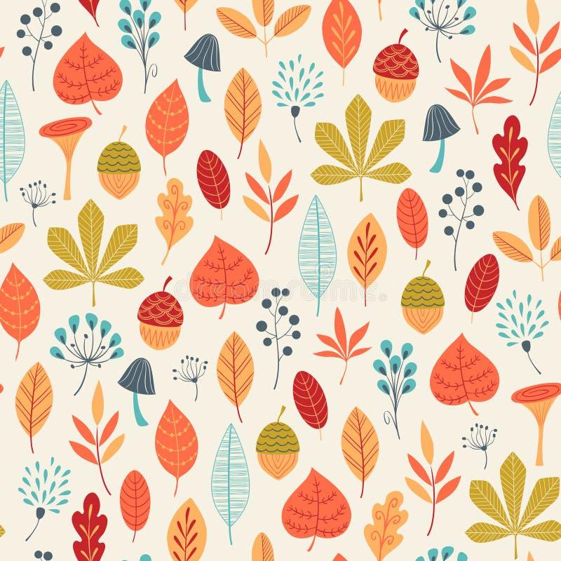 L'autunno colora il modello illustrazione vettoriale