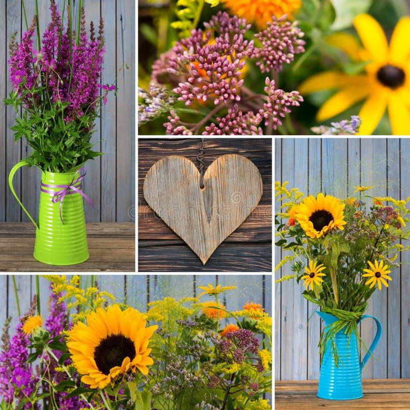 L'autunno fiorisce il collage fotografia stock libera da diritti