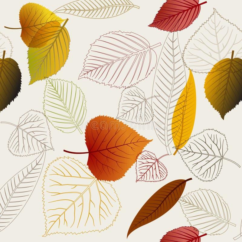 L'autunno frondeggia struttura illustrazione di stock