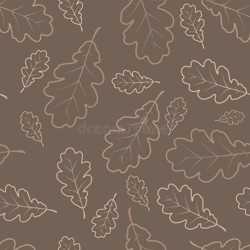 l'autunno frondeggia struttura della quercia illustrazione di stock