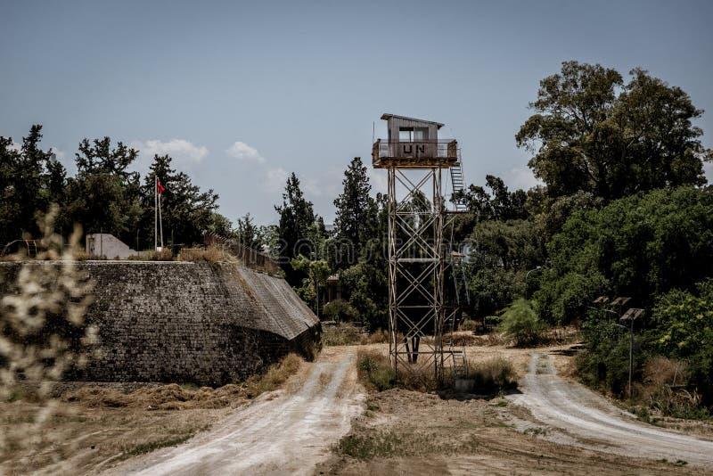 L'avant-poste des Nations Unies à Nicosie, Chypre, anandoned photos stock