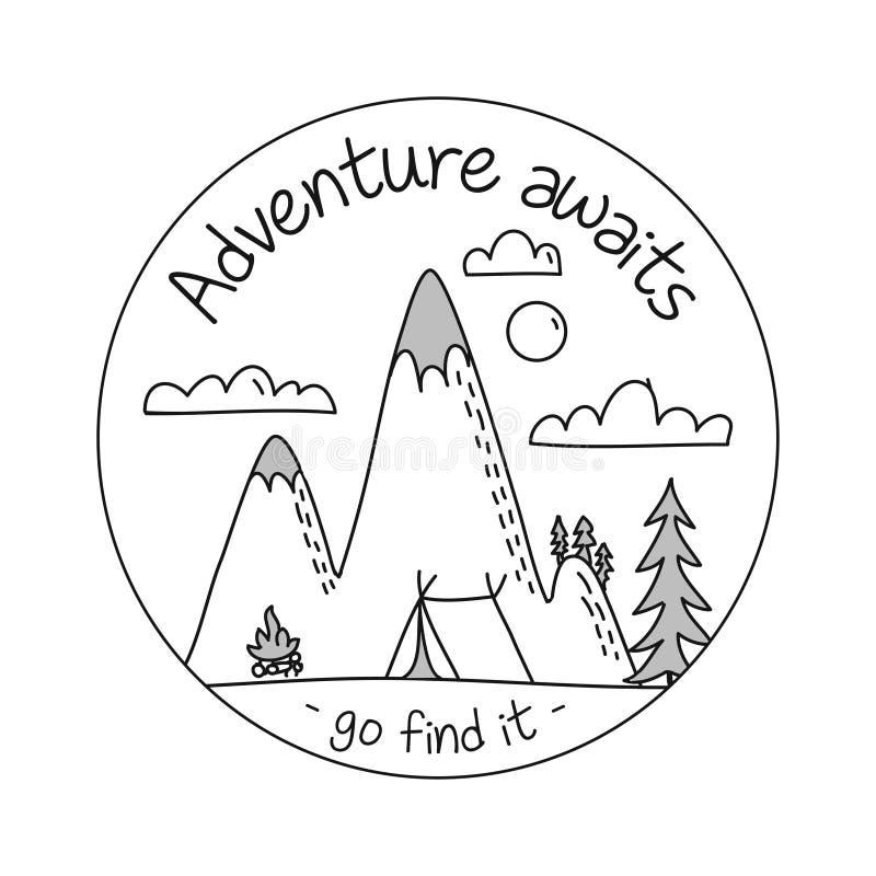 L'aventure attend vont le trouver illustration libre de droits
