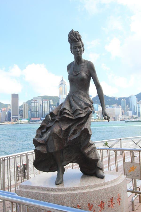 L'avenue des étoiles à Hong Kong photographie stock libre de droits
