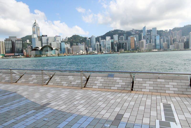 L'avenue des étoiles à Hong Kong images stock
