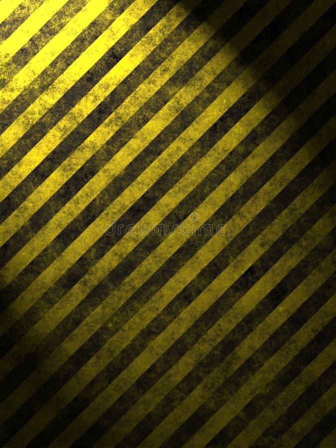 L'avertissement se connectent l'asphalte illustration libre de droits