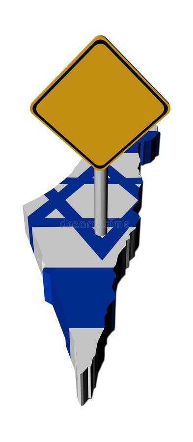 L'avertissement se connectent l'indicateur de carte de l'Israël illustration de vecteur