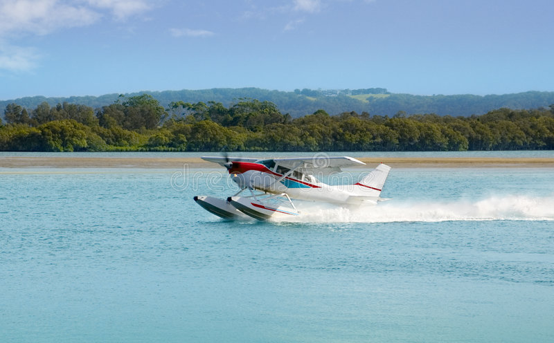 L'avion de mer prépare pour décoller photos libres de droits