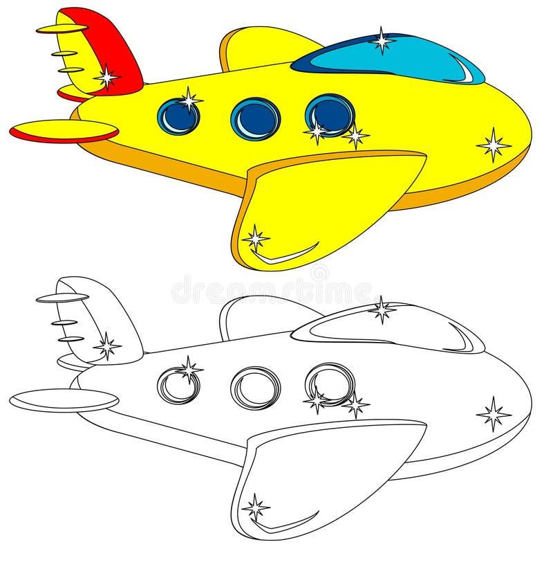 L'avion n'est pas peint et n'est pas coloré, vecteur illustration de vecteur