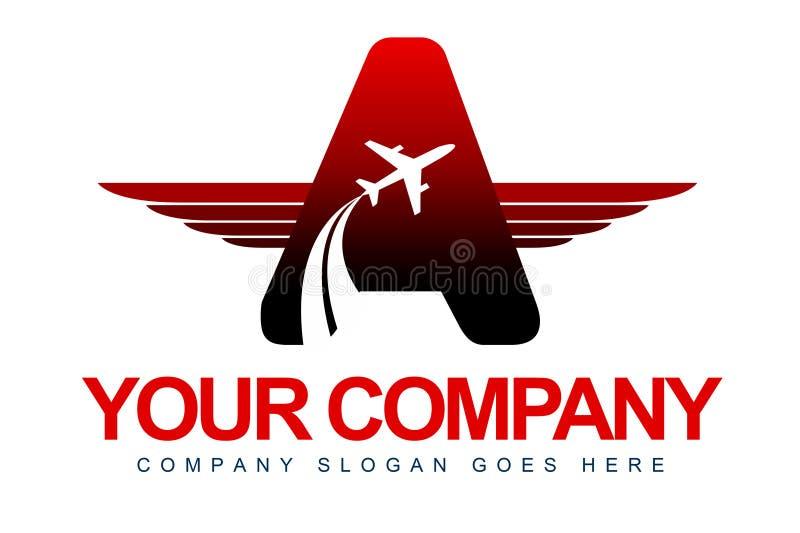 L'avion s'envole le logo illustration stock