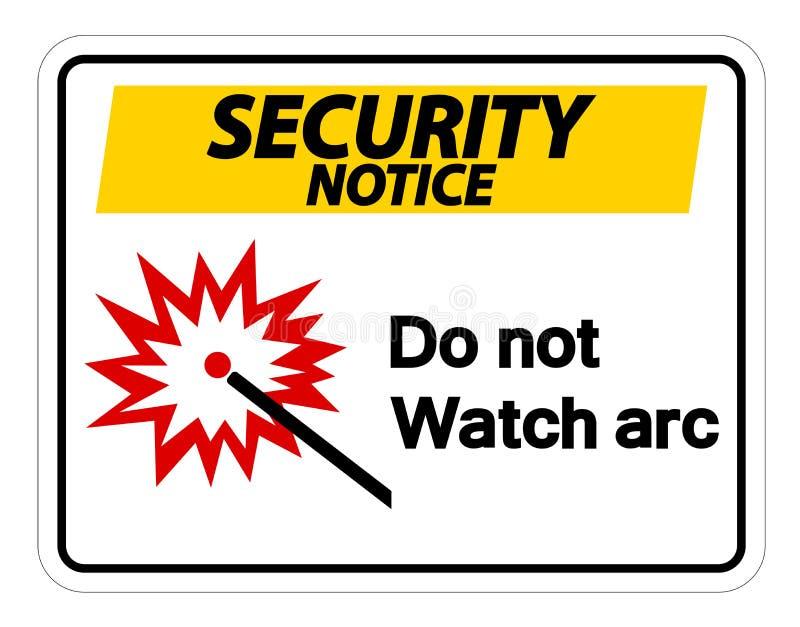 L'avis de s?curit? font pas le symbole d'arc de montre pour se connecter le fond blanc, illustration de vecteur illustration stock