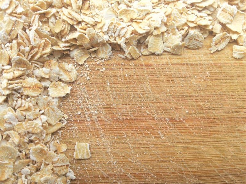 L'avoine encadre au fond en bois photo libre de droits