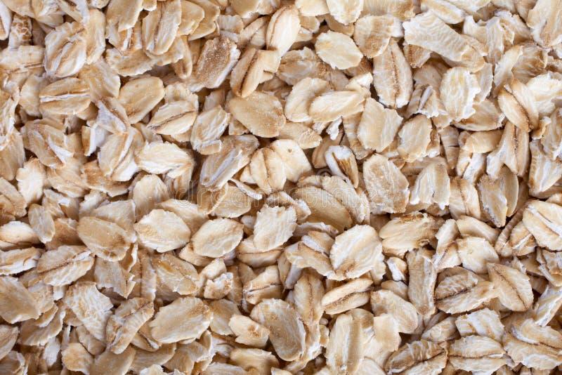 L'avoine s'écaille texture de fond, vue supérieure image stock