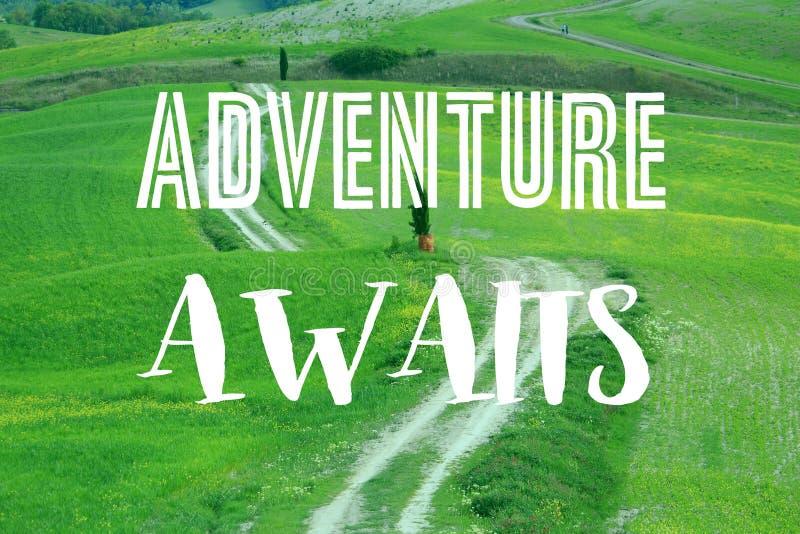 L'avventura attende illustrazione vettoriale