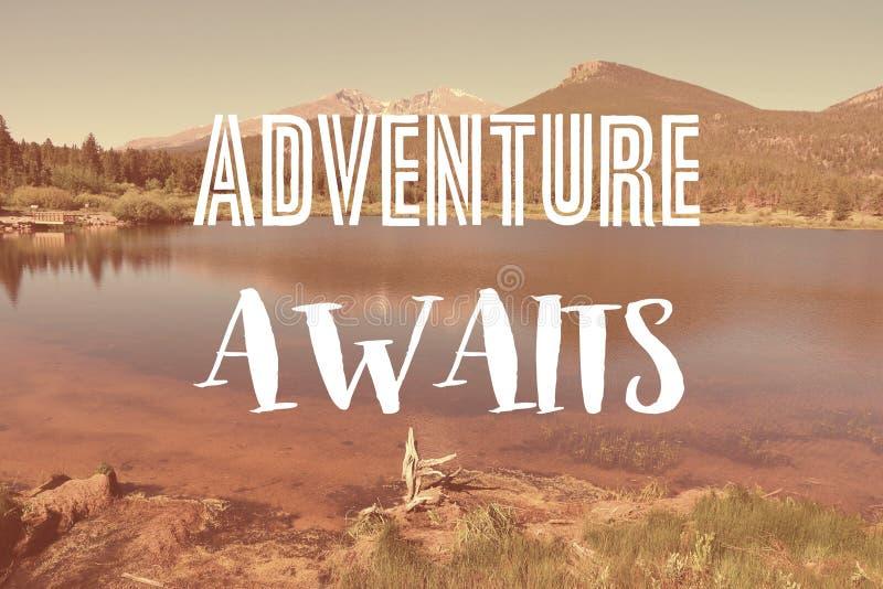 L'avventura attende royalty illustrazione gratis