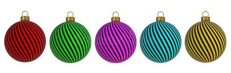 L'avvolgimento della decorazione del ` la s EVE del nuovo anno della palla di Natale allinea il ricordo d'attaccatura dell'orname illustrazione di stock