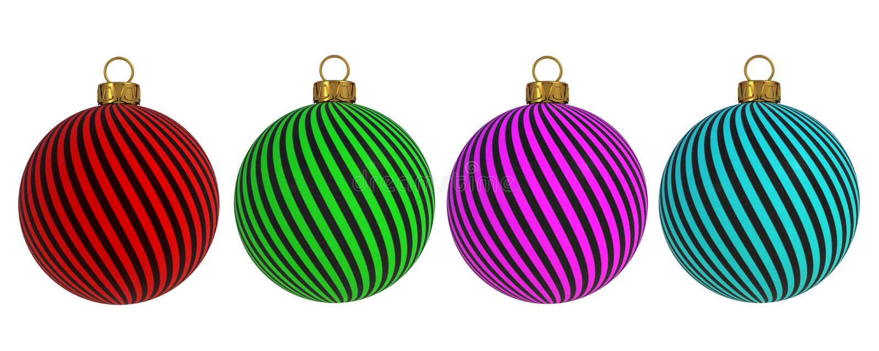 L'avvolgimento della decorazione del ` la s EVE del nuovo anno della palla di Natale allinea il ricordo d'attaccatura dell'orname illustrazione vettoriale