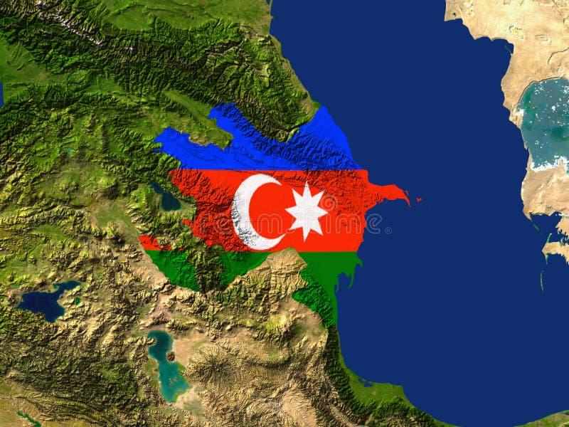 l'Azerbaïdjan illustration libre de droits